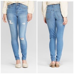 High-rise Distressed skinny jeans size 16